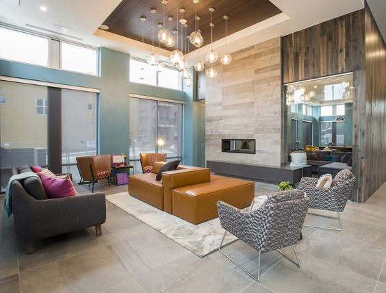 indoor outdoor modern clubhouse - Google Search