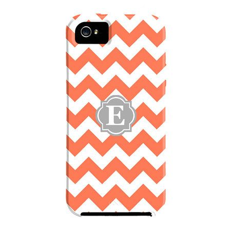 Chevron Monogrammed iPhone Case.