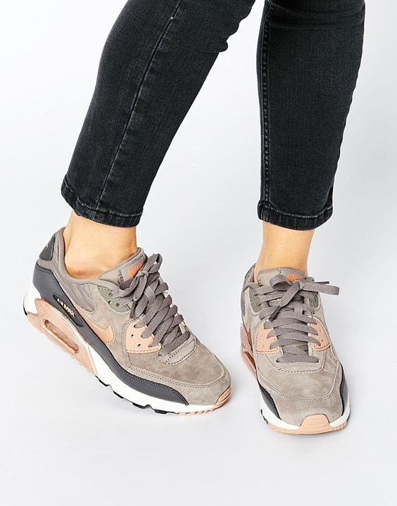 image 1 nike air max 90 baskets gris et bronze