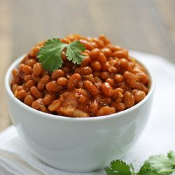 Honey-Chipotle Baked Beans.   http://www.thewickednoodle.com/honey-chipotle-baked-beans/#