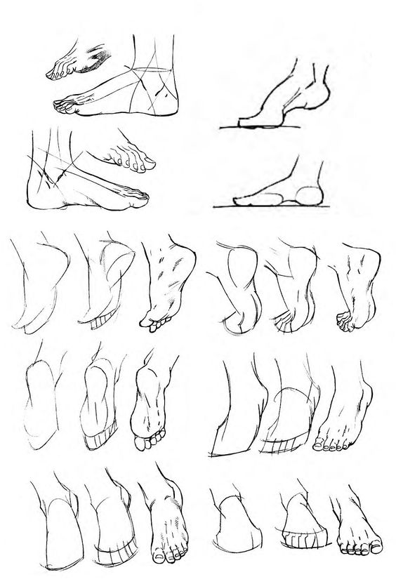 How to Draw Feet: