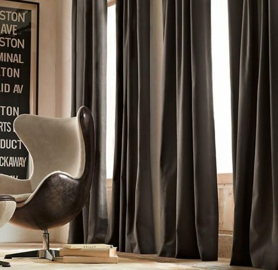 19 Drapery Ideas For Your Home Interior : Brushed Cotton Twill Modern Drapery