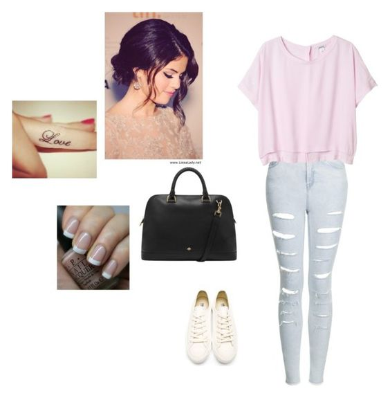 """""""Untitled #60"""" by myownstyle99 ❤ liked on Polyvore featuring OPI, Topshop, Monki, Mulberry and Neil Barrett"""