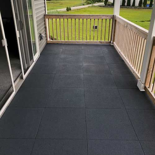 How Long Do Deck Tiles Last Rubber And Plastic Interlocking Squares Deck Tile Outdoor Rubber Tiles Outdoor Rubber Flooring