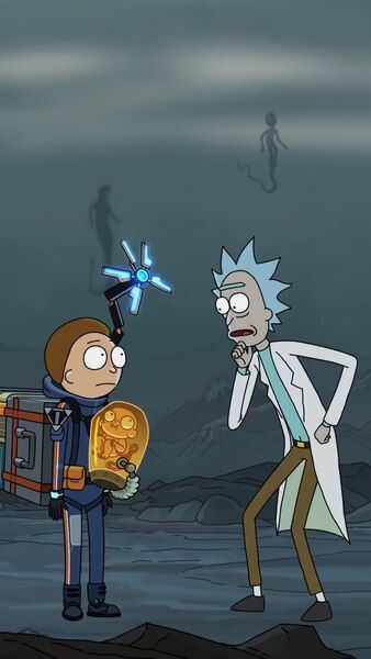 Death Stranding Rick And Morty 4k Hd Mobile Smartphone And Pc Desktop Laptop Rick And Morty Cartoon Wallpaper Morty
