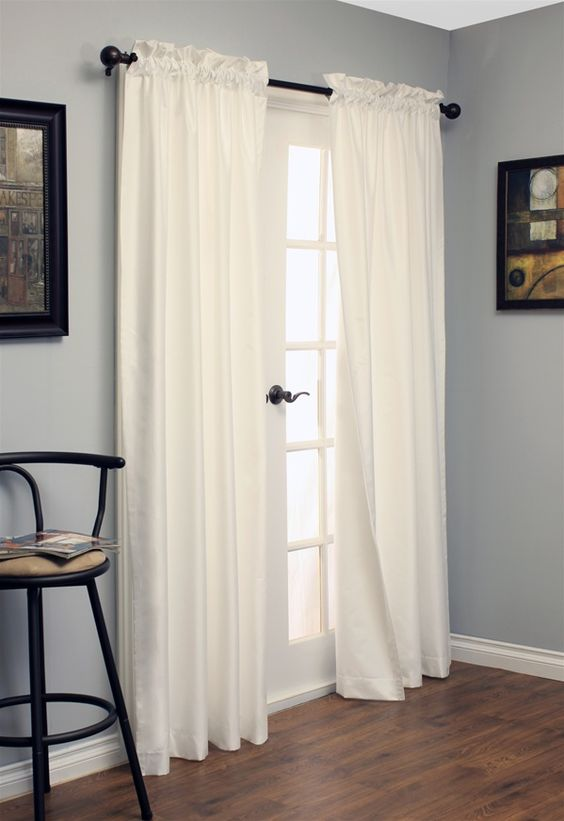 insulated blackout curtains in white - $60 for two cheapest ones I ...