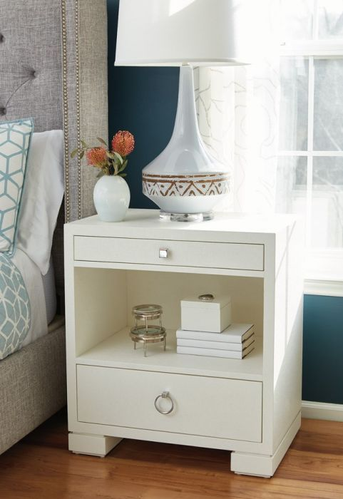 Frances 2 Drawer Side Table White Side Tables Bedroom Small
