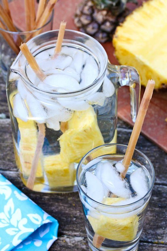 Pineapple Sugarcane Water Ingredients 2 liters purified water 2 sticks ...