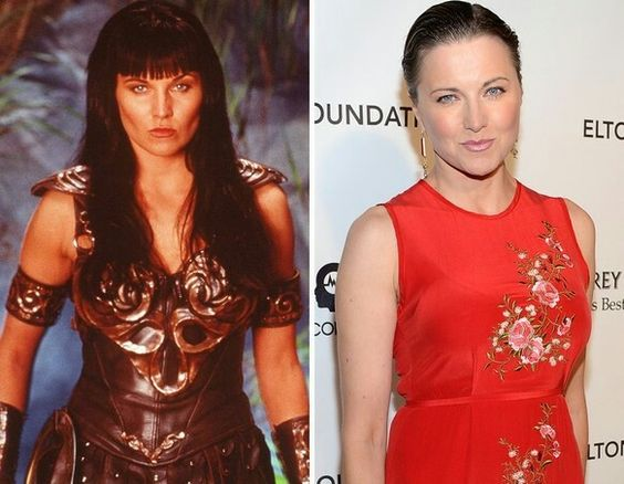 Ladies of the '80s & '90s -- Then & Now Lucy Lawless