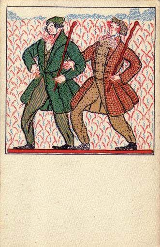 826. Fritzi Löw - Wiener Werkstatte postcard