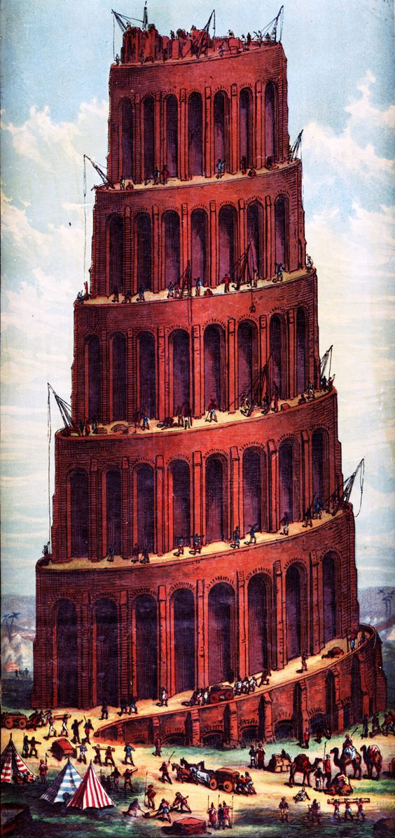 Tower Of Babel - A Victorian Image: