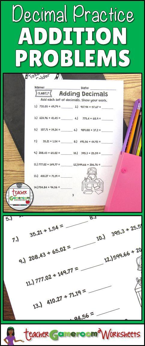 math worksheet : adding decimals decimal and worksheets on pinterest : Decimal Computation Worksheet