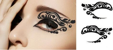sexy lace temporary tattoo makeup eye applique eyeshadow masquerade mardi gras holiday mask. Black Bedroom Furniture Sets. Home Design Ideas