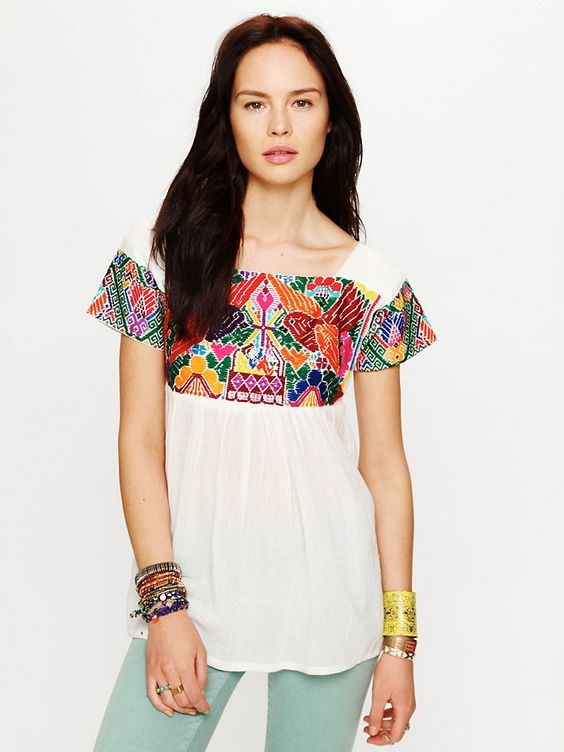 Aztec Embroidery, great outfit