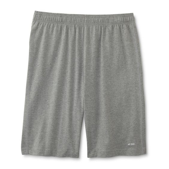 High temps won't stop the hard work when you're wearing these men's <strong>athletic shorts from Athletech</strong>. Constructed from lightweight jersey knit, these breathable shorts boast moisture-wicking technology to keep you dry and comfortable. A stretchy drawstring waistband provides additional comfort, and hidden, on-seam pockets offer space for small essentials.