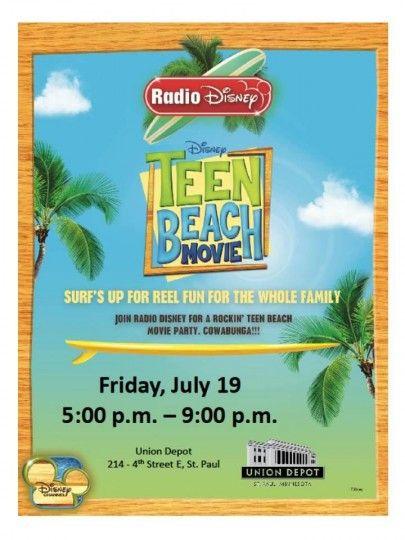 "Premiere of Disney's ""Teen Beach Movie"" Saint Paul, MN #Kids #Events"