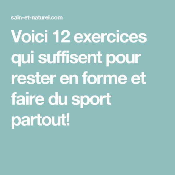 Voici 12 exercices qui suffisent pour rester en forme et faire du sport partout!
