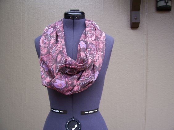 This pretty and free-flowing Purple Flower Infinity Scarf would be the perfect addition to your wardrobe.  Appropriate for all seasons, it is on sale for $19.95.  Free shipping.  PayPal Link:  https://www.paypal.com/cgi-bin/webscr?cmd=_s-xclick&hosted_button_id=EG5DWCBPQG5UW