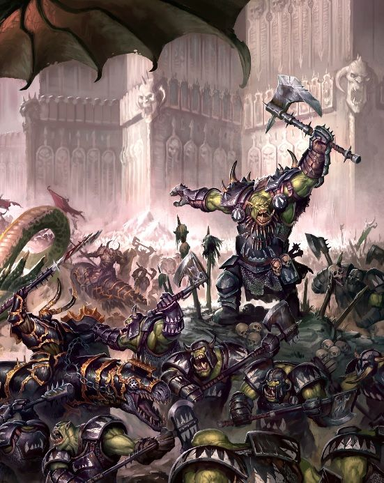 White Dwarf Artwork Orcs Vs Chaos Everchosen Varanguards: