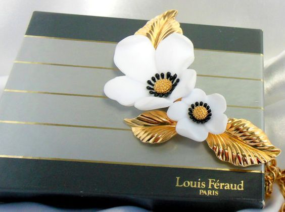 Louis Feraud Necklace Dogwood Blossoms by Ladysfancys on Etsy, $64.99