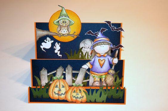 Treppenkarte Halloween