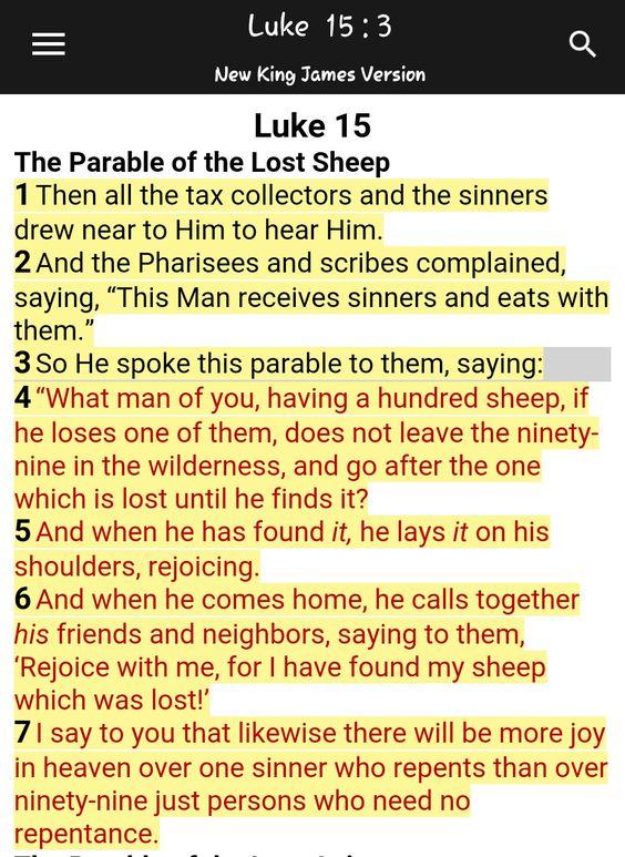 Luke 15: 1-7