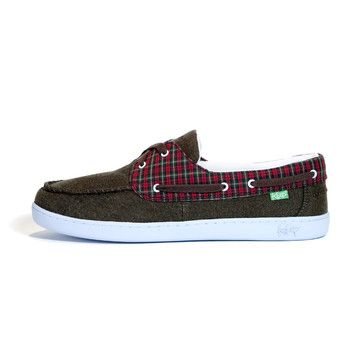 Benten Boat Shoe Red Plaid now featured on Fab.