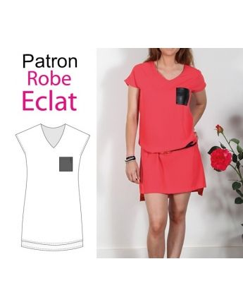 "Patron robe ""Eclat"""