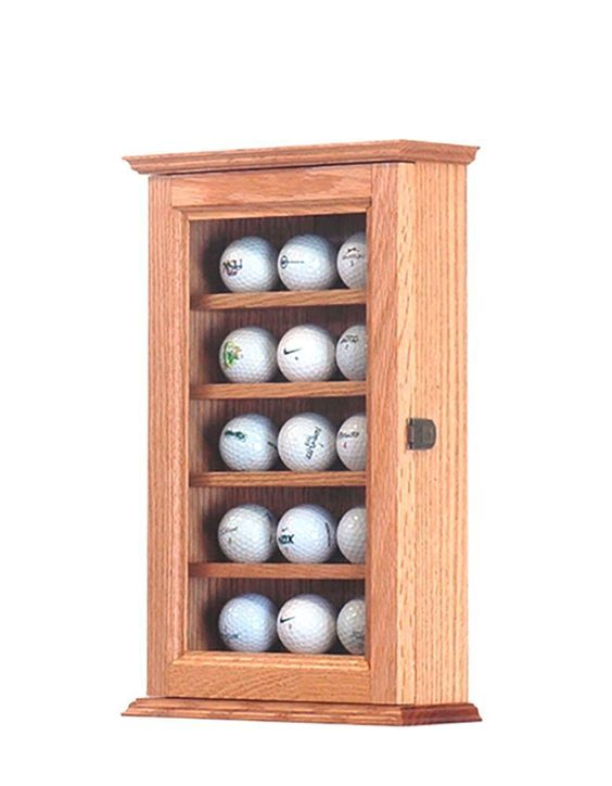 Oak Golf Ball Display Made In The Usa For The Semi Serious Golf