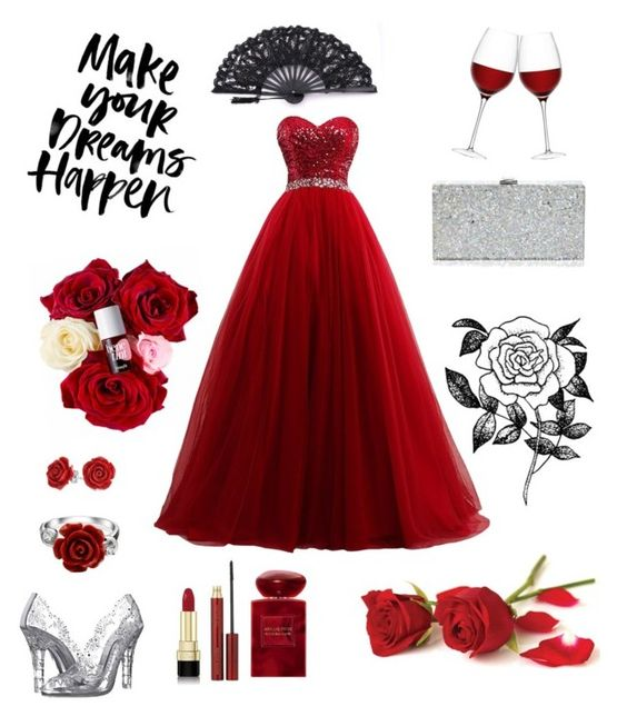 """""""red evening"""" by jessica1002 on Polyvore featuring Dolce&Gabbana, LSA International, Bling Jewelry, Kevyn Aucoin, Giorgio Armani, Milly and Forever 21"""