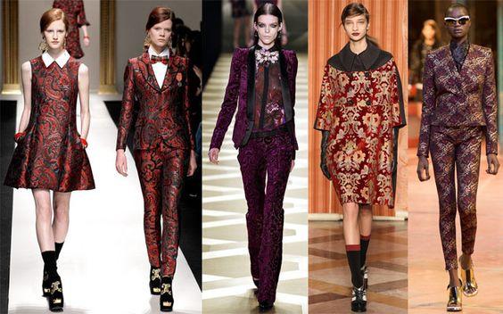 broccati moschino roberto cavalli antonio marras kenzo- tendencias de moda para el otoño invierno 13-14
