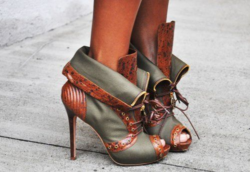 love a tough boot, a heel is a classy touch