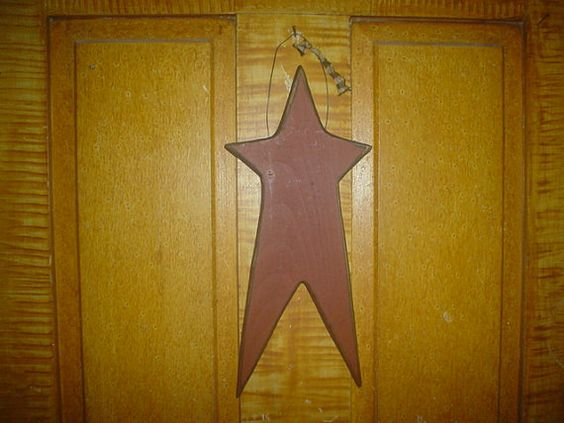 Primitive Distressed Wooden Star Hanger by thefarmladyscupboard, $12.00