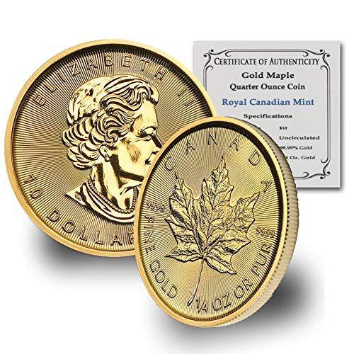 2020 Ca 1 4 Oz Gold Maple Leaf Bu W Coa By Coinfolio 10 Brilliant Uncirculated 10 Bu Coin Finance Money In 2020 Gold Bullion Coins Coins Gold Bullion