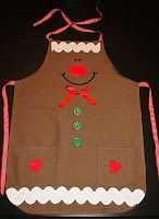 Gingerbread Man apron from What makes me happy: