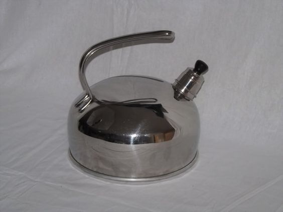 We are offering this sleek Belgique Stainless Steel 2.75 Qt. Whistling Tea Kettle. This piece is not only functional but also a great