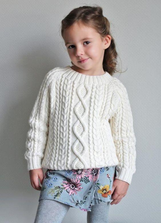 Suéter de tejido de punto de cable Jersey Merino tejido a | Etsy