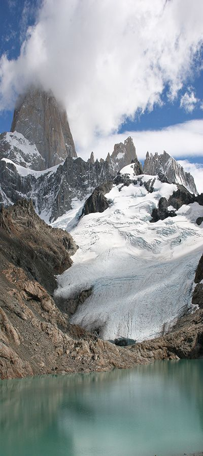 Glacial view on hike in El Chalten #Patagonia #Argentina #Southamerica #tours