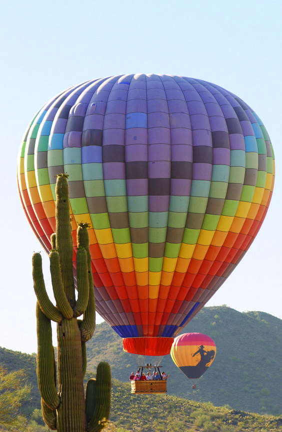 HOT-AIR BALLOONING -Check - off my Bucket List!  A must-do while you are vacationing at phoenixvacationcondos.com