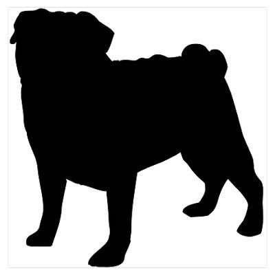 Pug Google And Silhouette On Pinterest