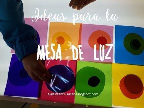 Mesa De Luz Mesas De Luz Actividades Sensoriales Infantiles Juegos Sensoriales Para Niños