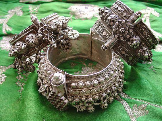 Old silver bracelets from Yemen: