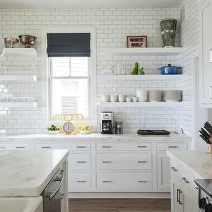 Floating Shelves in Kitchen, Contemporary, kitchen, The Novogratz
