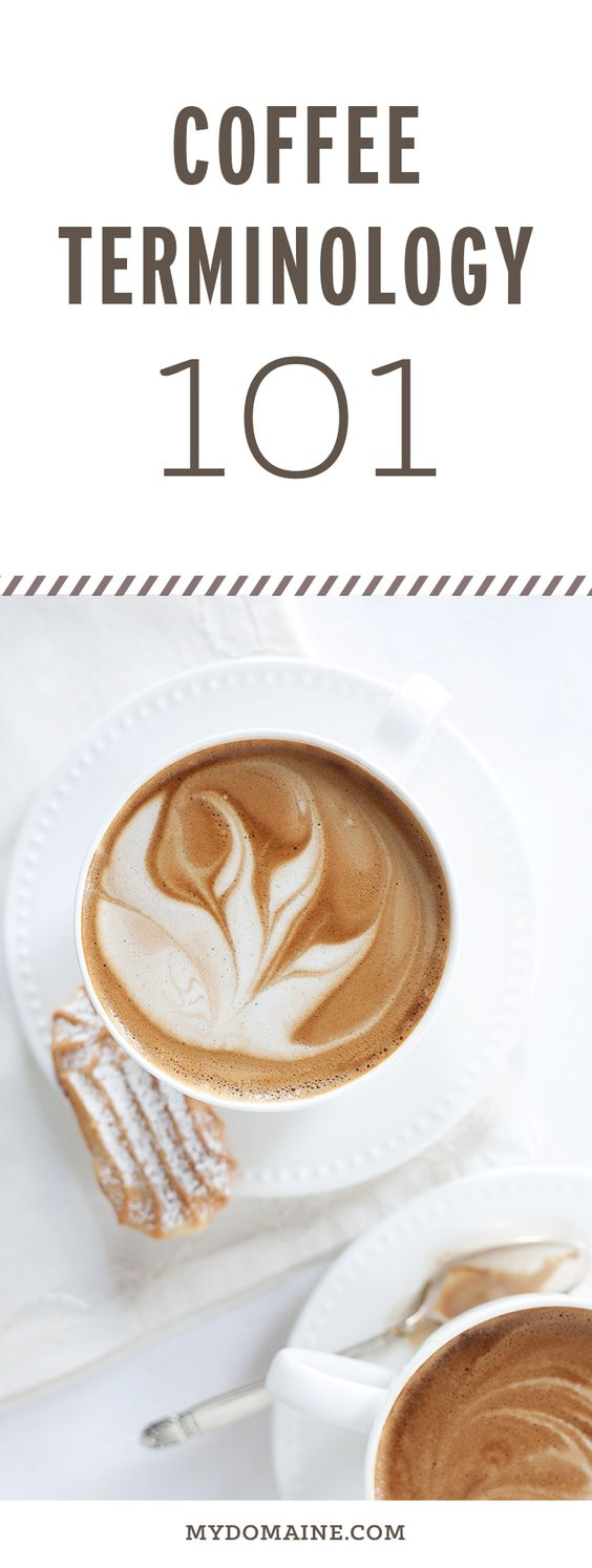 You probably know the basics, but read this in efforts to really understand your the café lingo