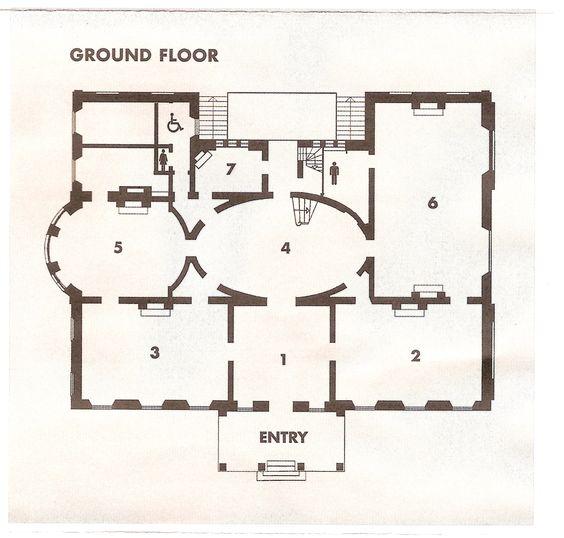 Elizabeth Bay House  Sydney  Ground floor plan    Architectural    Elizabeth Bay House  Sydney  Ground floor plan