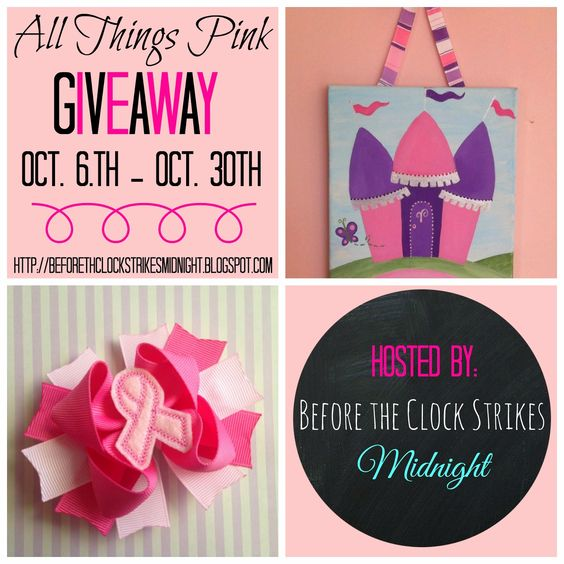 Before the Clock Strikes Midnight: Breast Cancer Awareness and All Things Pink Giveaw...