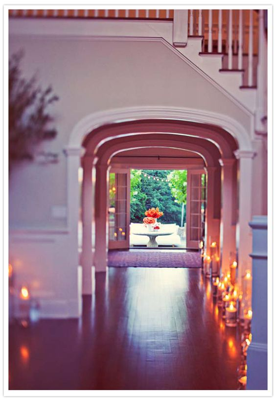 archways and candles