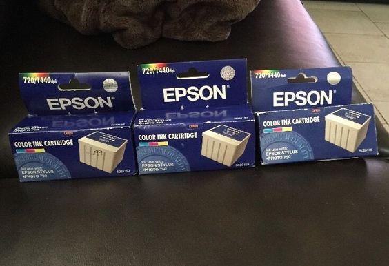 3 Pack Epson S020193 Color Ink Cartridge S020110   eBay