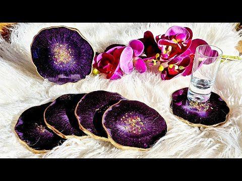 Gorgeous Epoxy Coasters