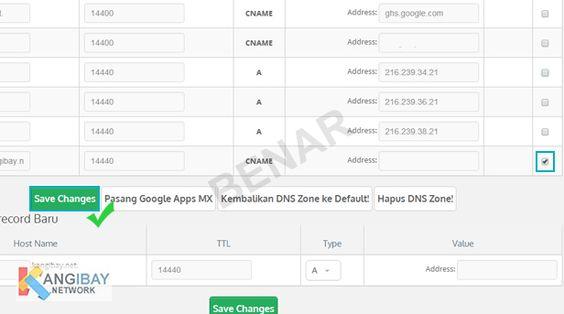 Mengapus DNS Record satu per satu pada Domain DNS Manager Qwords